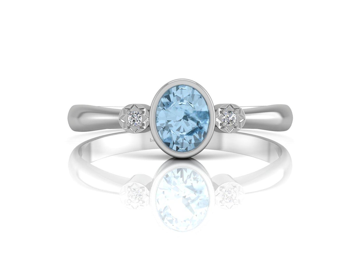 9 karat weiss gold schulter set diamant blauer topas. Black Bedroom Furniture Sets. Home Design Ideas