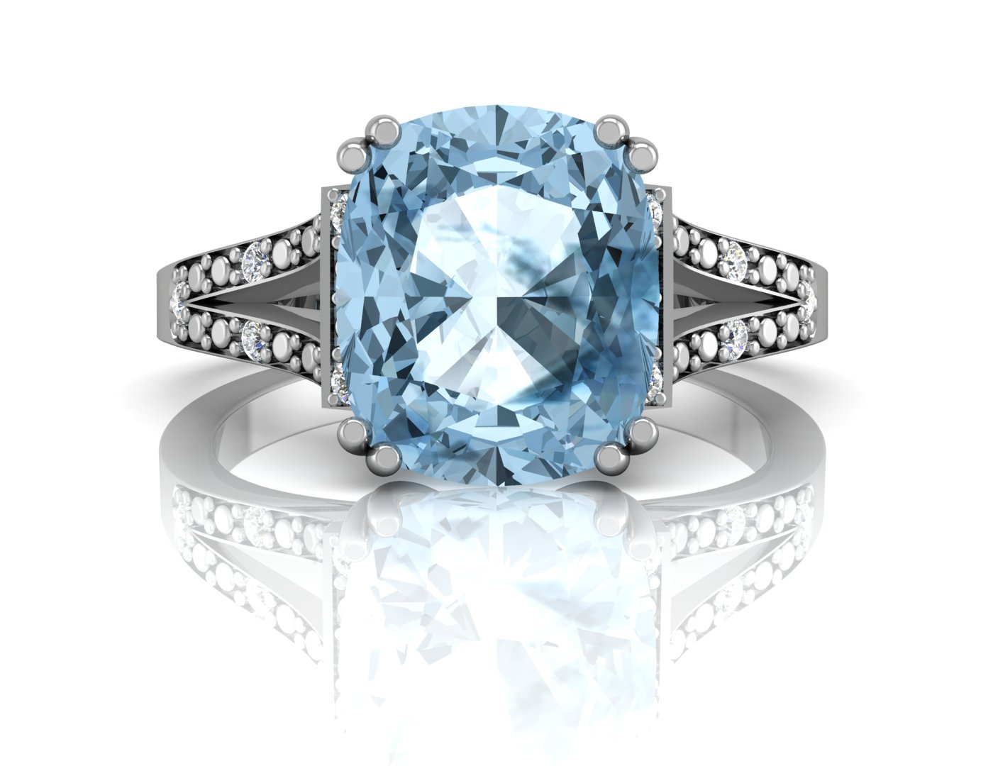 image blue in topaz diamond and halo ring gold oval white