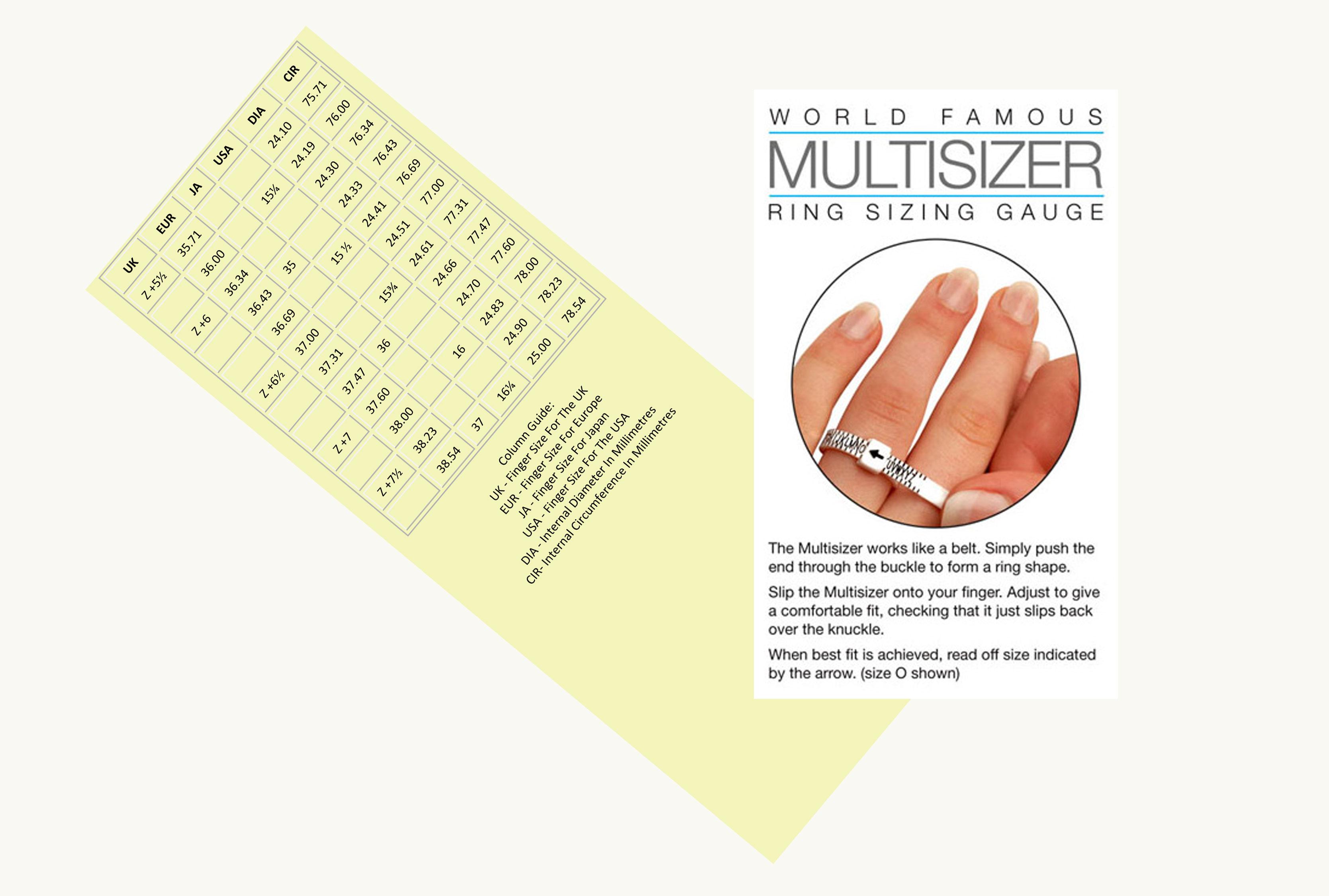 New Europe Ring Sizer Finger Gauge Sizing Wedding Ring Size